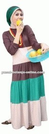Baju Muslim A34 coklat