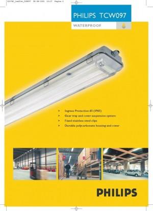 waterproof TCW 097 philips 2x36 watt/kap TL/housing TL/lampu neon
