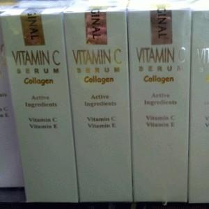 SERUM VITAMIN C Dan E, Kolagen, Segel Plastik Luar Dalam Berhologram. Original