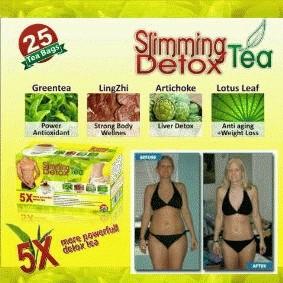 Harga gila SLIMMING+DETOX TEA hanya ! Rp 175.000