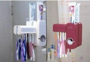 Toothpaste Dispenser & Brush Set