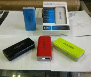 POWERBANK GOLDEN 5000MAH+MP3+RADIO+SENTER+DIGITAL
