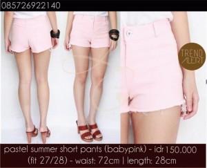 pastel summer short pants