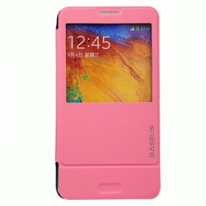 Baseus Folio Stand Case for Samsung Galaxy Note 3 Rose