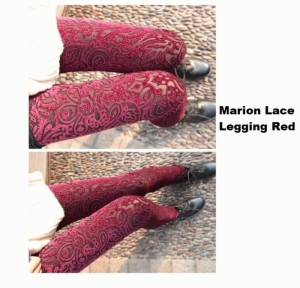 CODE : Marion Lace Legging Red