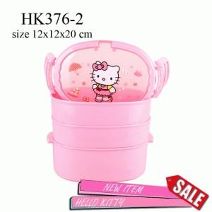 HK376-2Tempat Bekal hello kitty Susun 3