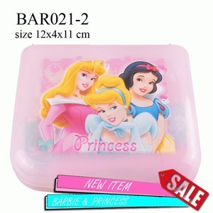 BAR021-2Set handuk odol sikat dll Persegi Barbie, Princess, Tingkerbell