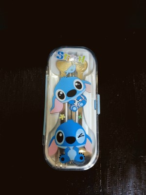 Cutlery Set - Perlengkapan Makan Karakter Stitch