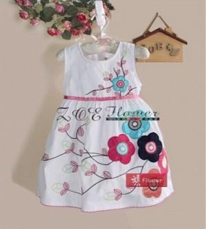 dress zoe 13 dress anak impor white flower dress