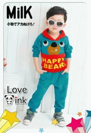 2pcs Happy Blue Bear