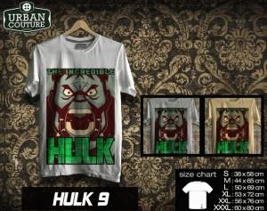 Tshirt HULK Disain HULK 9