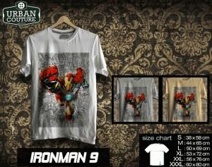 Tshirt IRONMAN Disain IRONMAN 9
