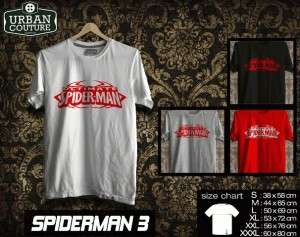 Tshirt SPIDERMAN  Disain SPIDERMAN 3