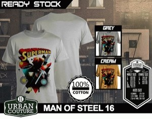 Kaos MAN OF STEEL  Disain MAN OF STEEL 16