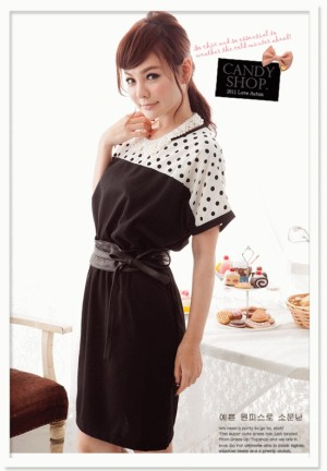 Dress polkadot Korea