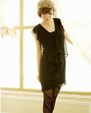 Dress Black Twist V-Neck