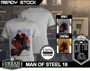 Kaos MAN OF STEEL  Disain MAN OF STEEL 18