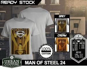 Kaos MAN OF STEEL  Disain MAN OF STEEL 24