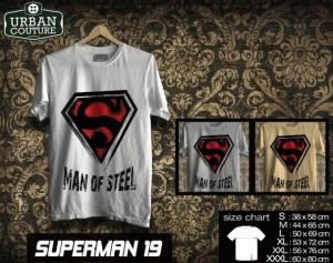 Kaos SUPERMAN  Disain SUPERMAN  19