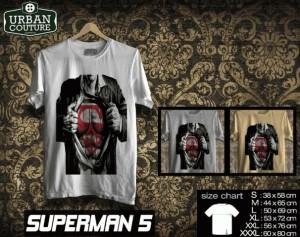 Kaos SUPERMAN  Disain SUPERMAN  5