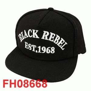 Snapback BLACK REBEL LUCKY Hitam FH08668