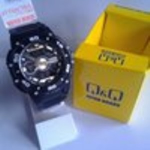 Jam Tangan Q&Q Attractive DE10 Dual Time Original