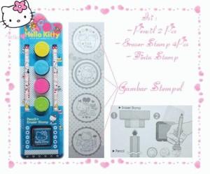 Eraser Stamp Hello Kitty 1Set Type2