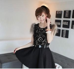 DRESS BLACK B0412
