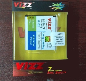 Baterai Double Power Vizz - Galaxy Mega 5.8 - i9152 / i9150