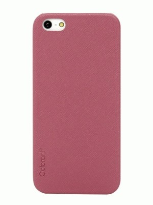 Colorant iPhone 5 Thin Leather Shell - Pink