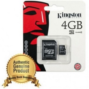Kingston microSDHC High Capacity micro Secure Digital Card Class 4 - 4GB