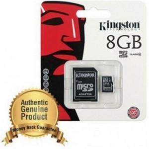 Kingston microSDHC High Capacity micro Secure Digital Card Class 4 - 8GB