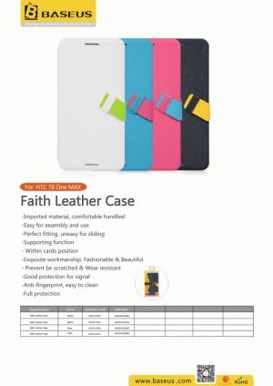 faith leather case baseus for HTC One Max