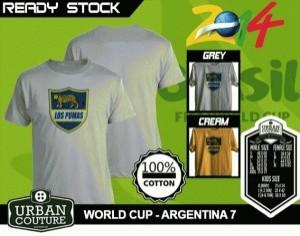 Kaos PIALA DUNIA Disain WORLD CUP - ARGENTINA 7