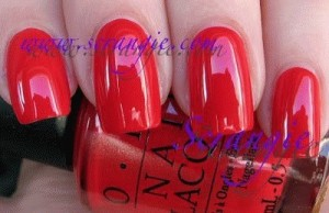 OPI - Red Is My Fortune Cookie