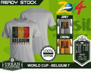 Kaos PIALA DUNIA Disain WORLD CUP - BELGIA 7
