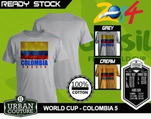 Kaos PIALA DUNIA Disain WORLD CUP - COLOMBIA 5