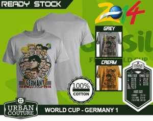 Kaos PIALA DUNIA Disain WORLD CUP - GERMANY 1