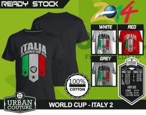 Kaos PIALA DUNIA Disain WORLD CUP - ITALY 2