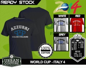 Kaos PIALA DUNIA Disain WORLD CUP - ITALY 4