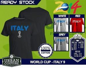 Kaos PIALA DUNIA Disain WORLD CUP - ITALY 9