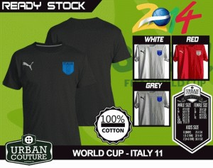 Kaos PIALA DUNIA Disain WORLD CUP - ITALY 11