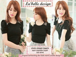 BLOUSE MURAH TOP VIVIO SIMPLY BLACK