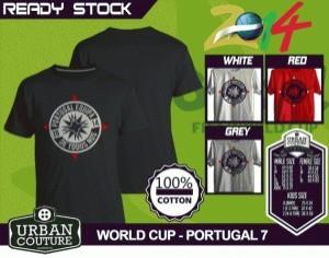 Kaos PIALA DUNIA Disain WORLD CUP - PORTUGAL 7