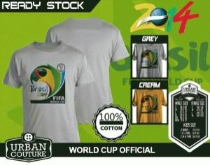 Kaos PIALA DUNIA Disain WORLD CUP OFFICIAL