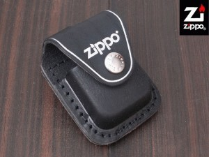 Zippo Lighter Pouch Loop Black Leather