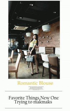 Makmaks Fashion Blouse Flower Yellow Korean