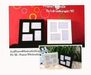 Frame Minimalis Gabungan 4R Kotak