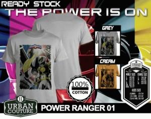 Tshirt POWER RANGER 01