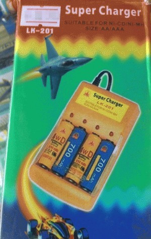 Super Charger Baterai untuk NI-CD/NI-MH (AA/AAA)